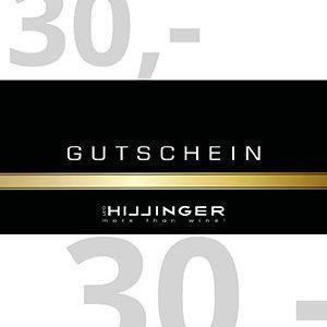 Leo Hillinger 30 Euro Geschenkgutschein